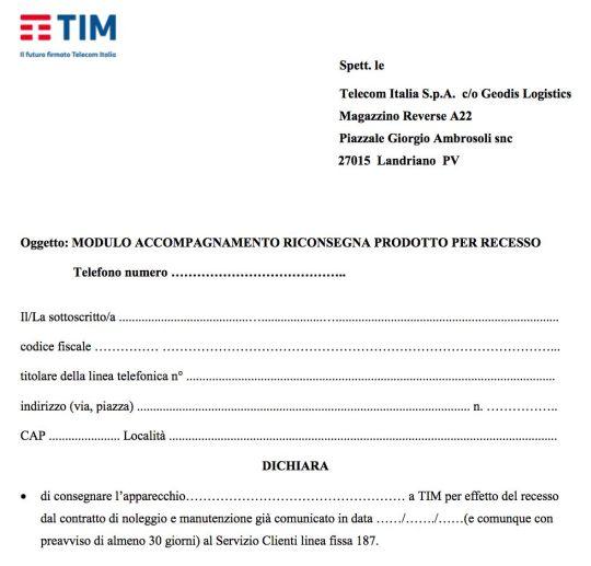 Disdetta Telecom: come disdire la linea telefonica fissa Tim