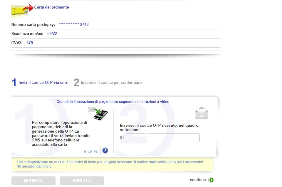 Ricaricare Postepay online