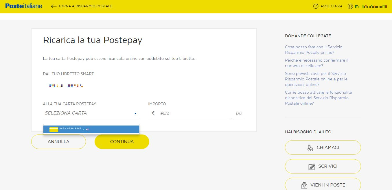 ricarica-postepay-online-libretto-smart